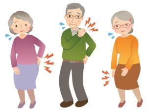 肩・膝・腰の関節症の高齢者