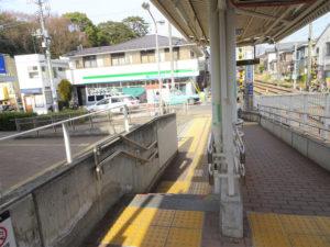 東急世田谷線宮の坂駅のスロープ